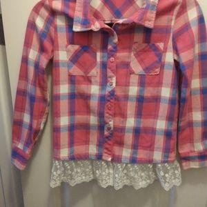 Girls Poof Girls button down shirt